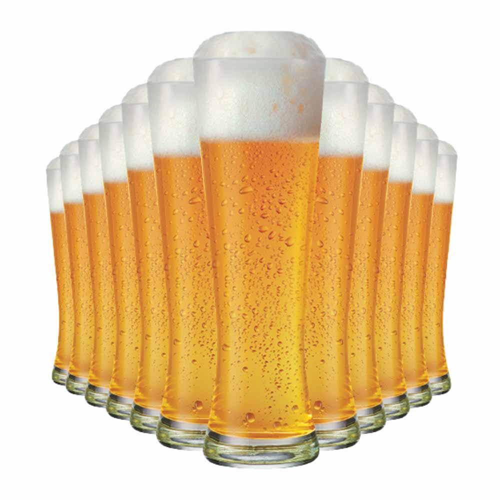 Jogo Copos Cerveja Weiss Polite G Vidro 685ml 12 Pcs