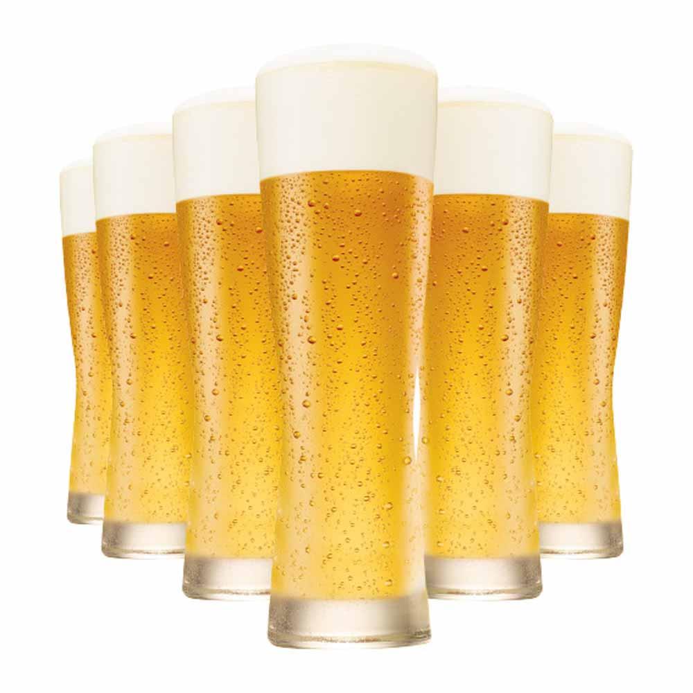 Jogo Copos Cerveja Weiss Polite M Vidro 430ml 6 Pcs