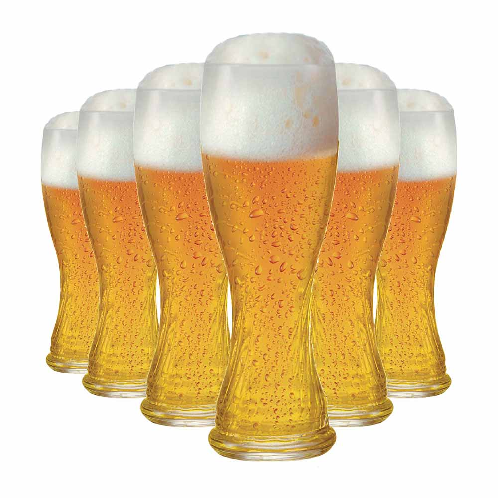 Jogo Copos Cerveja Weiss Schachen Torcido Vidro 710ml 6 Pcs