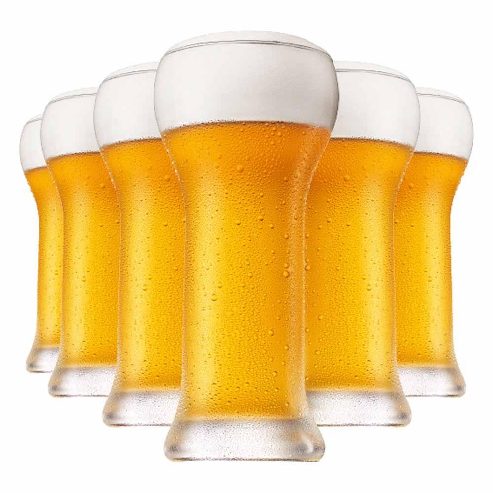 Jogo Copos Cerveja Wheatbeer Cristal 480ml 6 Pcs