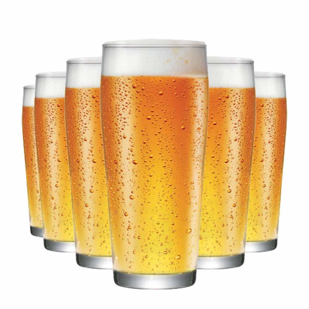 Jogo Copos Cerveja Willy P Vidro 310ml 6 Pcs