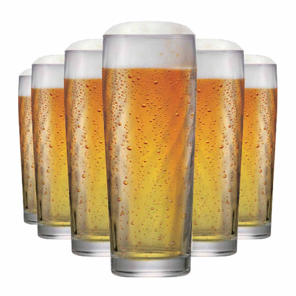 Jogo Copos Cerveja Zurich M Vidro 320ml 6 Pcs