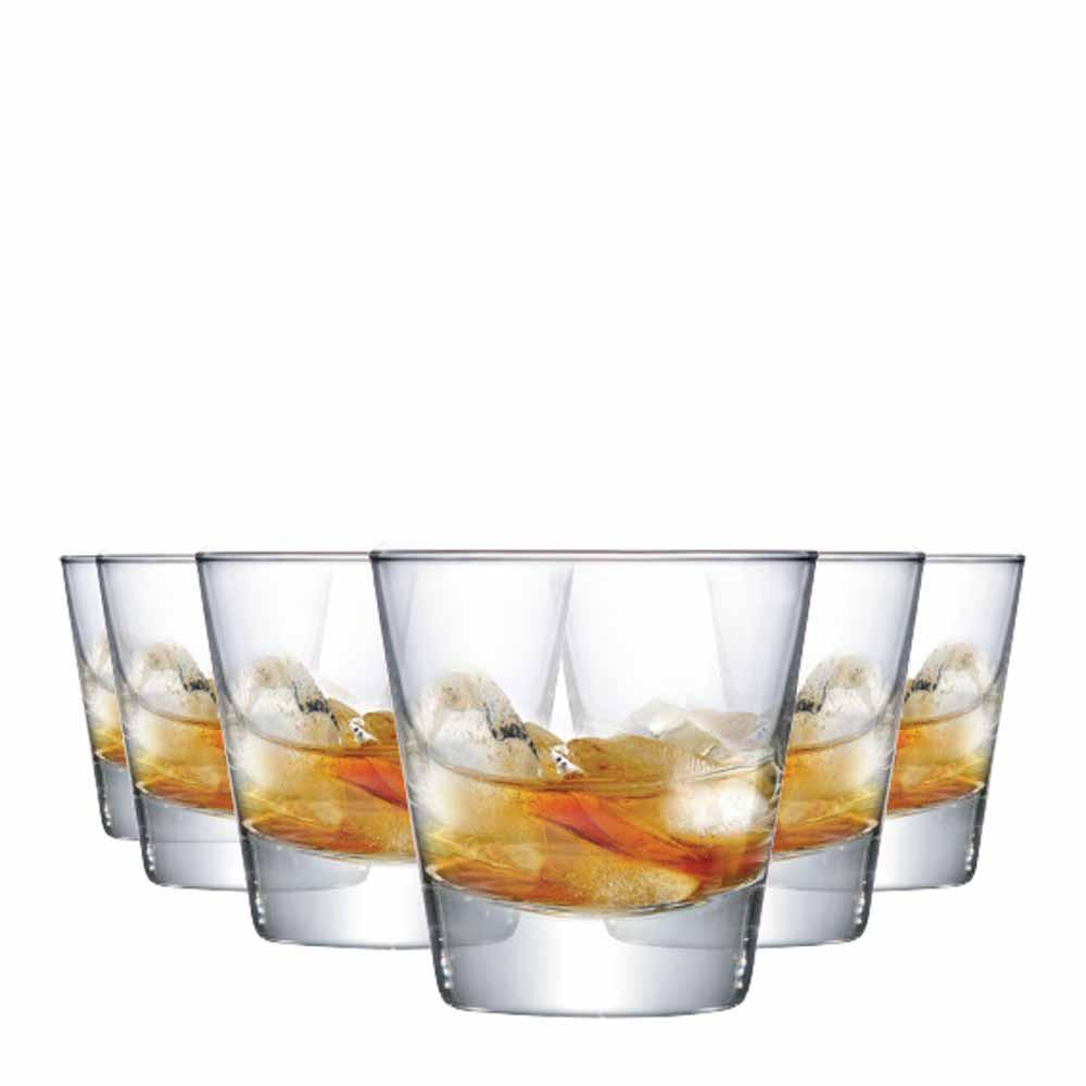 Jogo Copos Whisky Conico Stockholm Vidro 270ml 6 Pcs