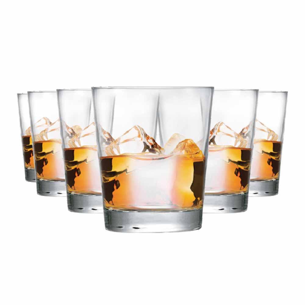 Jogo Copos Whisky Event On The Rocks Vidro 320ml 6 Pcs