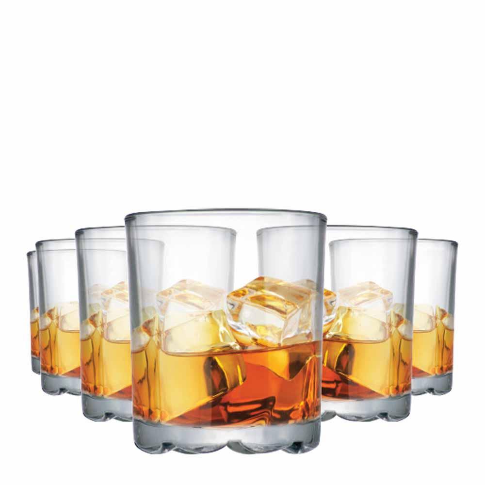 Jogo Copos Whisky Mirage On The Rocks Vidro 280ml 6 Pcs