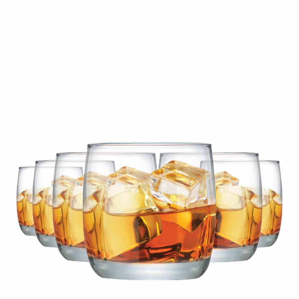 Jogo Copos Whisky New York On The Rocks Vidro 325ml 6 Pcs