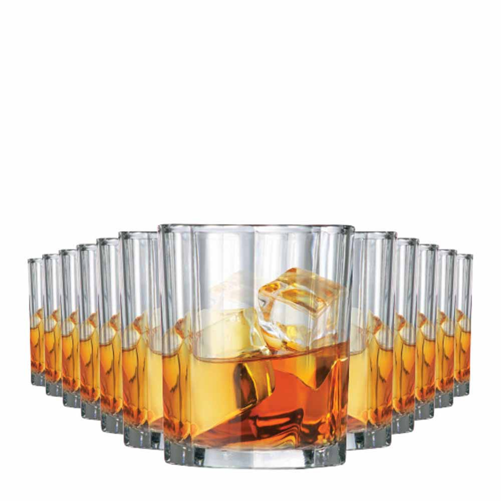 Jogo Copos Whisky Octon On The Rocks Vidro 280ml 12 Pcs