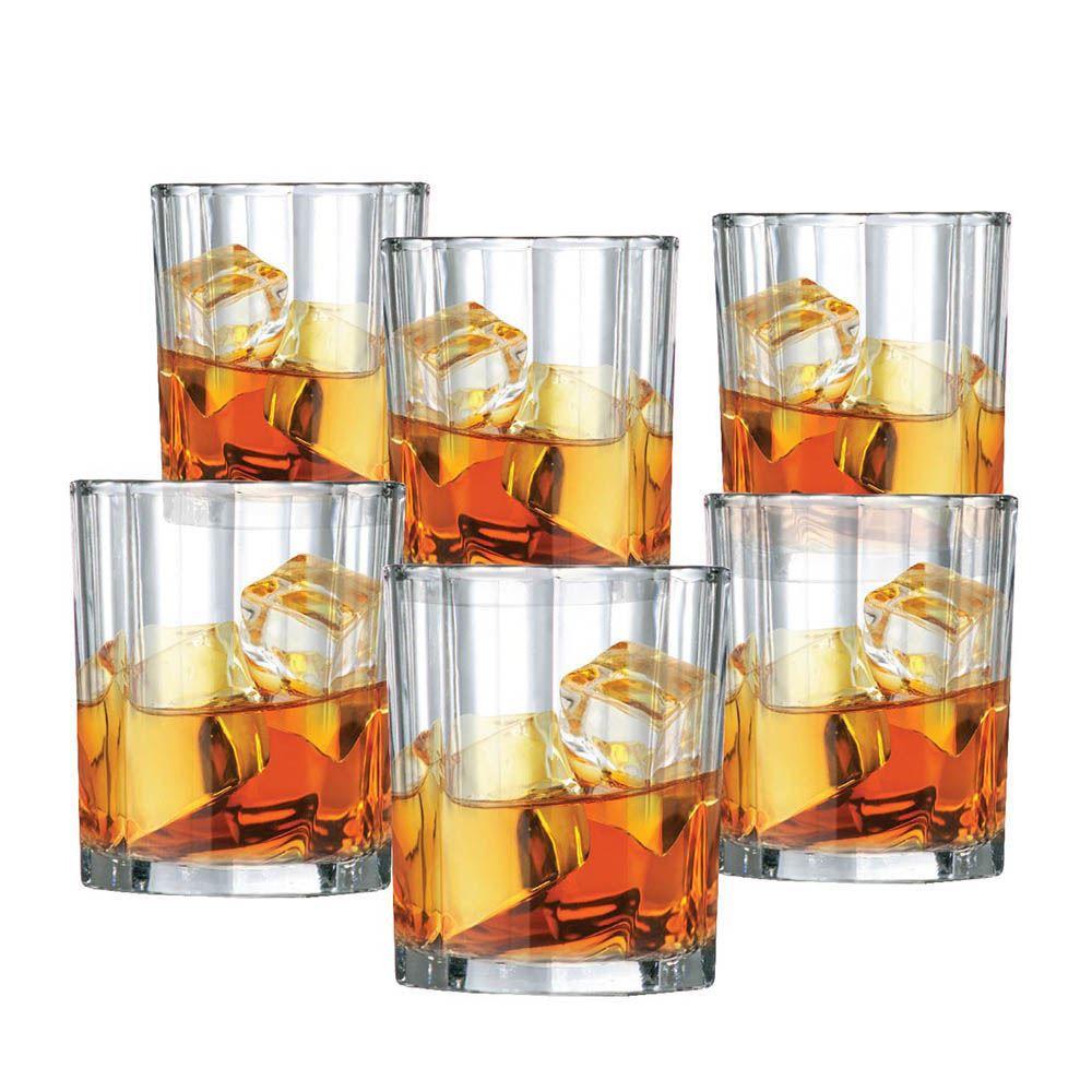 Jogo Copos Whisky Octon On The Rocks Vidro 280ml 6 Pcs