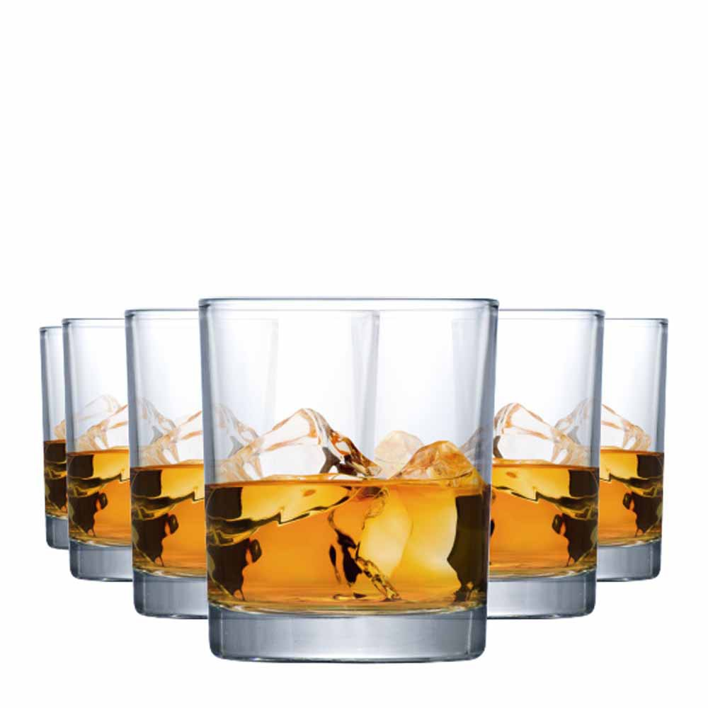 Jogo Copos Whisky Prestige On The Rocks Vidro 340ml 6 Pcs