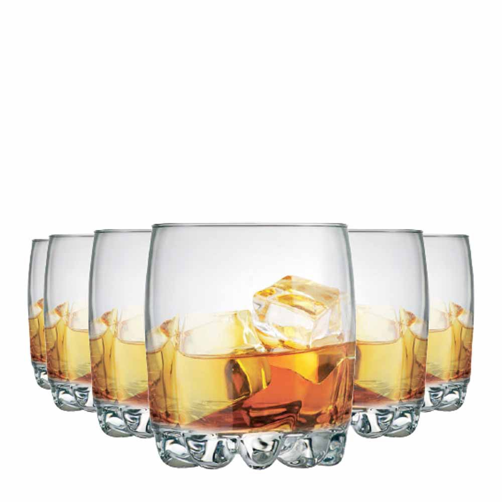 Jogo Copos Whisky Riviera On The Rocks Vidro 310ml 6 Pcs