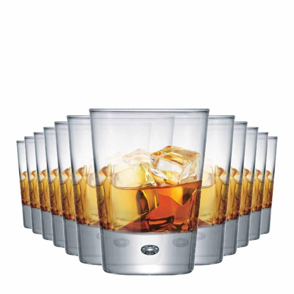 Jogo Copos Whisky Strange On The Rocks Vidro 275ml 12 Pcs