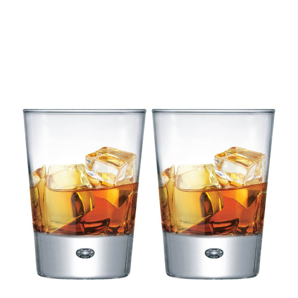Jogo Copos Whisky Strange On The Rocks Vidro 275ml 2 Pcs