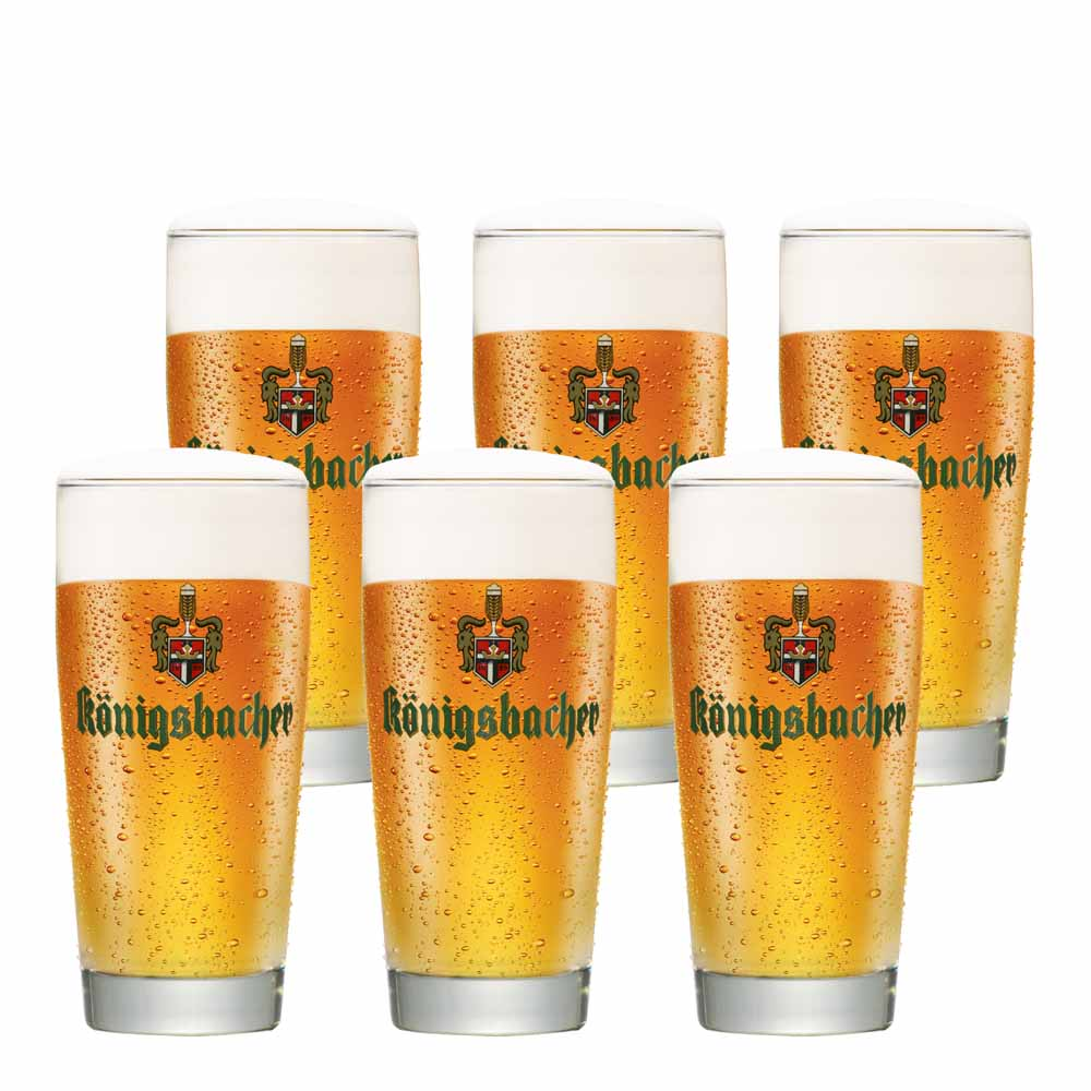 Jogo de Copos de Cerveja Frase Konigsbacher 0,40 Vidro 490ml