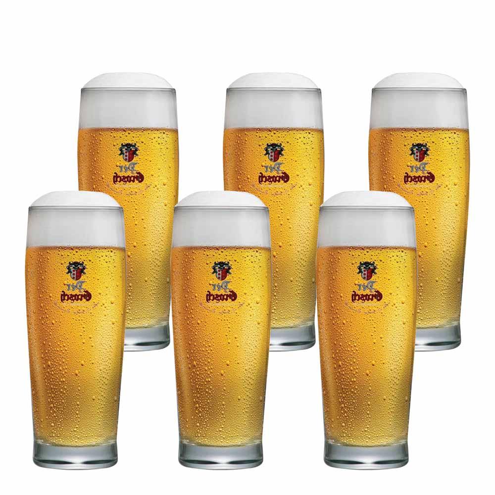 Jogo de Copos de Cerveja Frases Der Grosch 0,4 Vidro 450ml