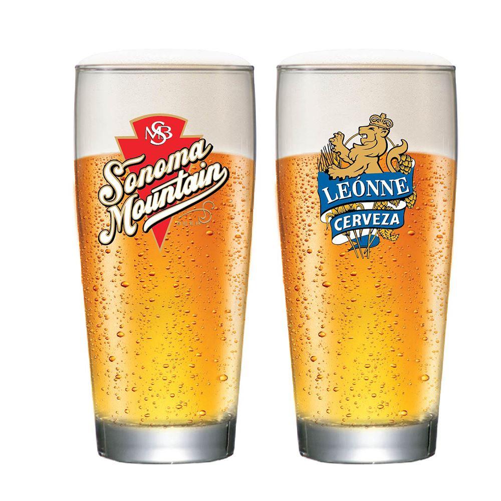Jogo de Copos para Cerveja Frases Rótulo Prime M 320ml 2 Pcs