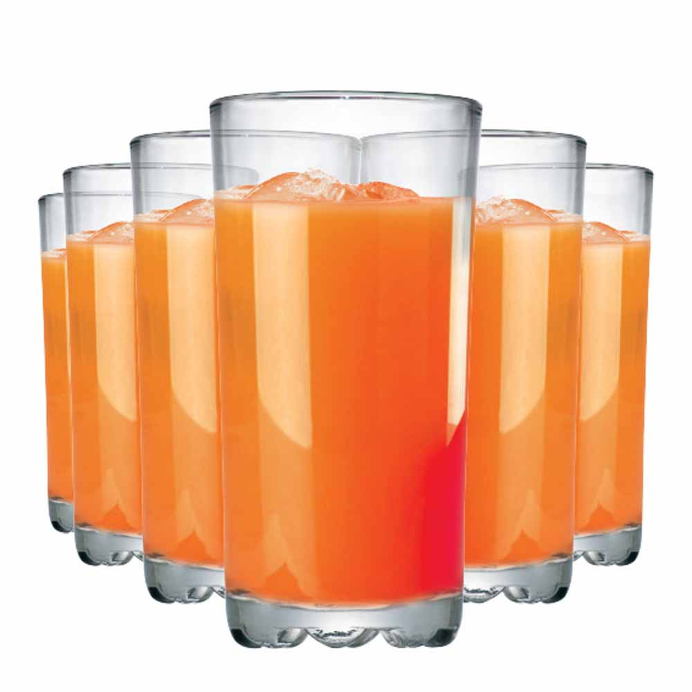 Jogo de Copo de Água ou Suco Mirage Long Drink Vidro 300ml 6 Pcs