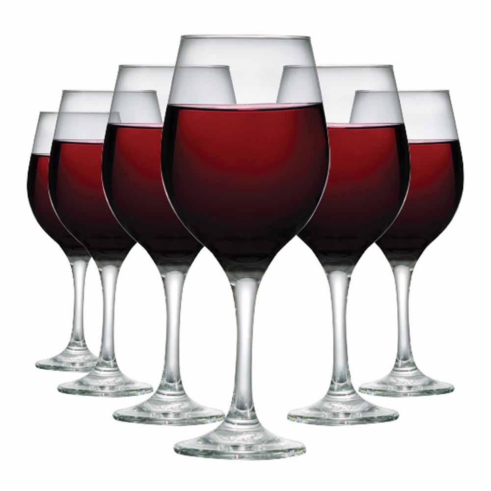Jogo de Taças de Vinho Suco One Vidro 490ml 6 Pcs
