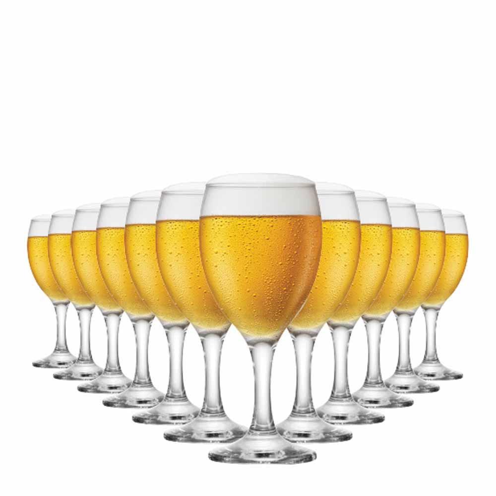 Jogo de Taças de Cerveja Roma Vidro 300ml 12 Pcs