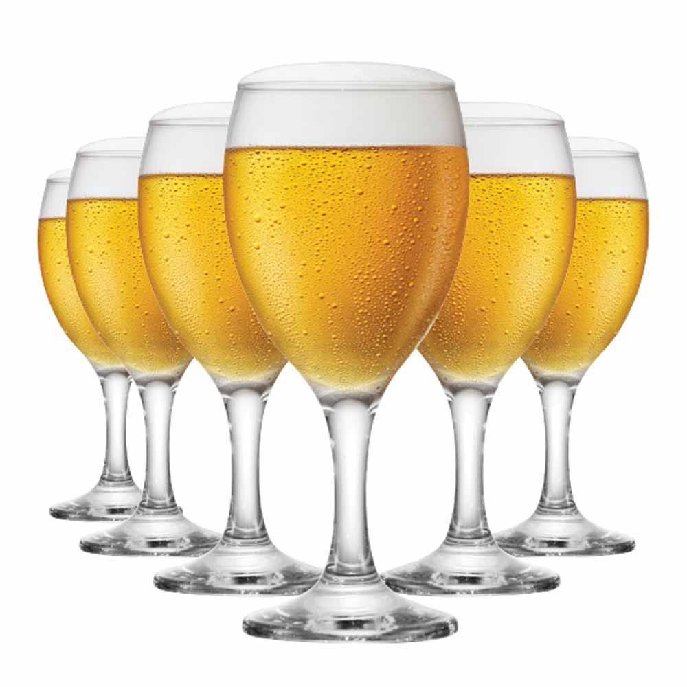 Jogo de Taças de Cerveja Roma Vidro 300ml 6 Pcs
