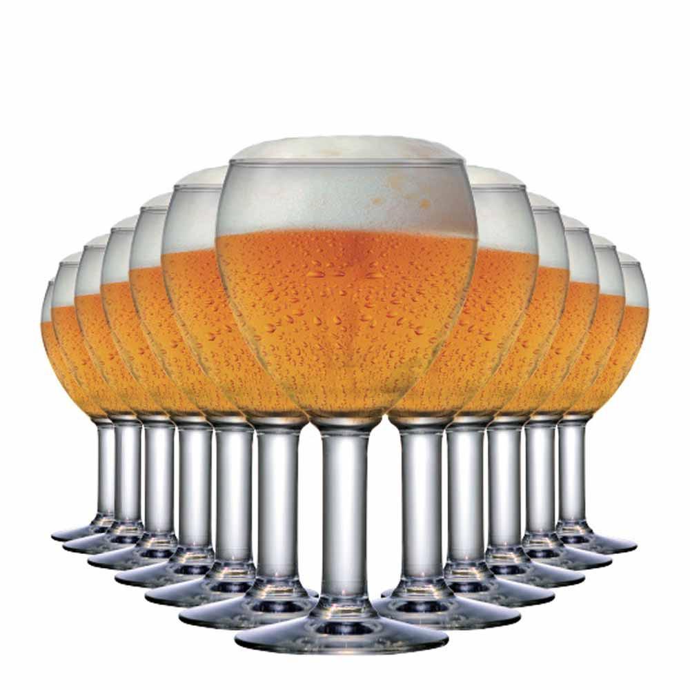 Jogo de Taças Cerveja Abadia Vidro 550ml 12 Pcs