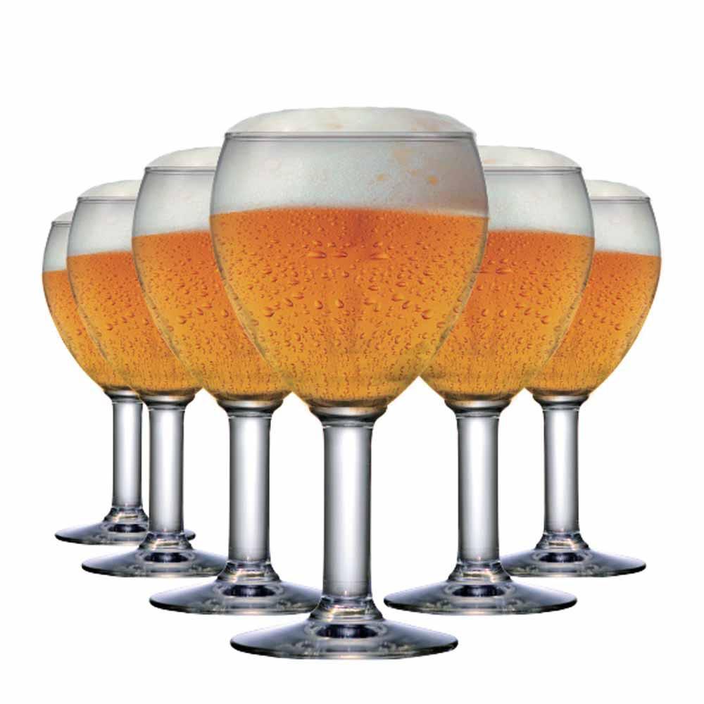Jogo de Taças Cerveja Abadia Vidro 550ml 6 Pcs