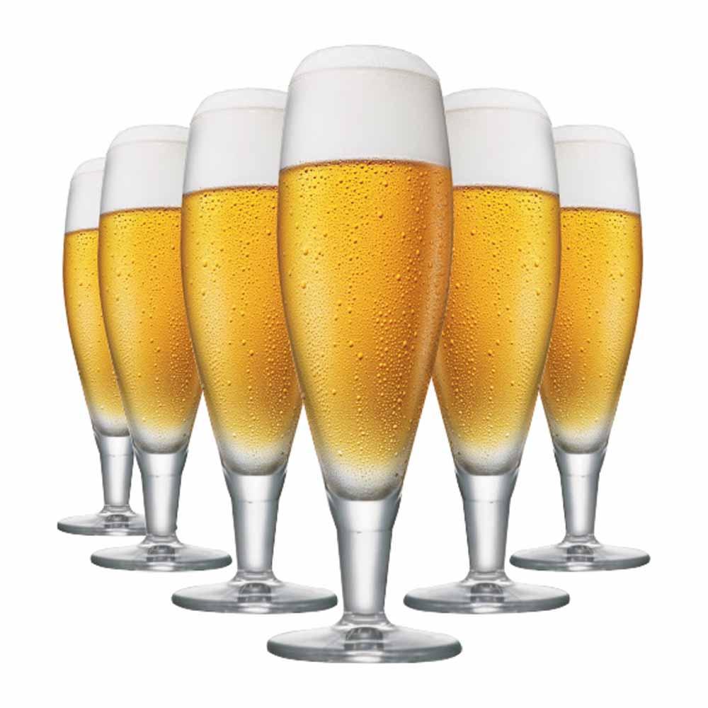 Jogo de Taças Cerveja Alsdorf Cristal 390ml 6 Pcs
