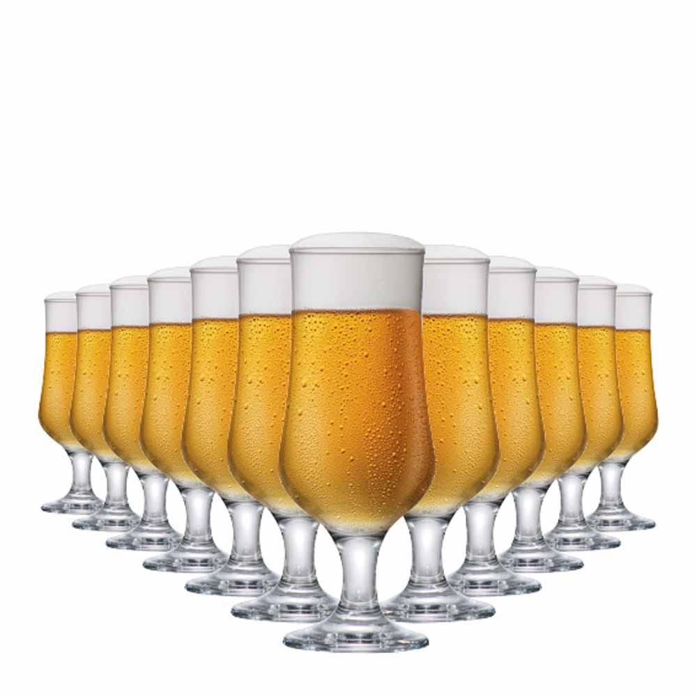 Jogo de Taças Cerveja Barcelona G Vidro 370ml 12 Pcs