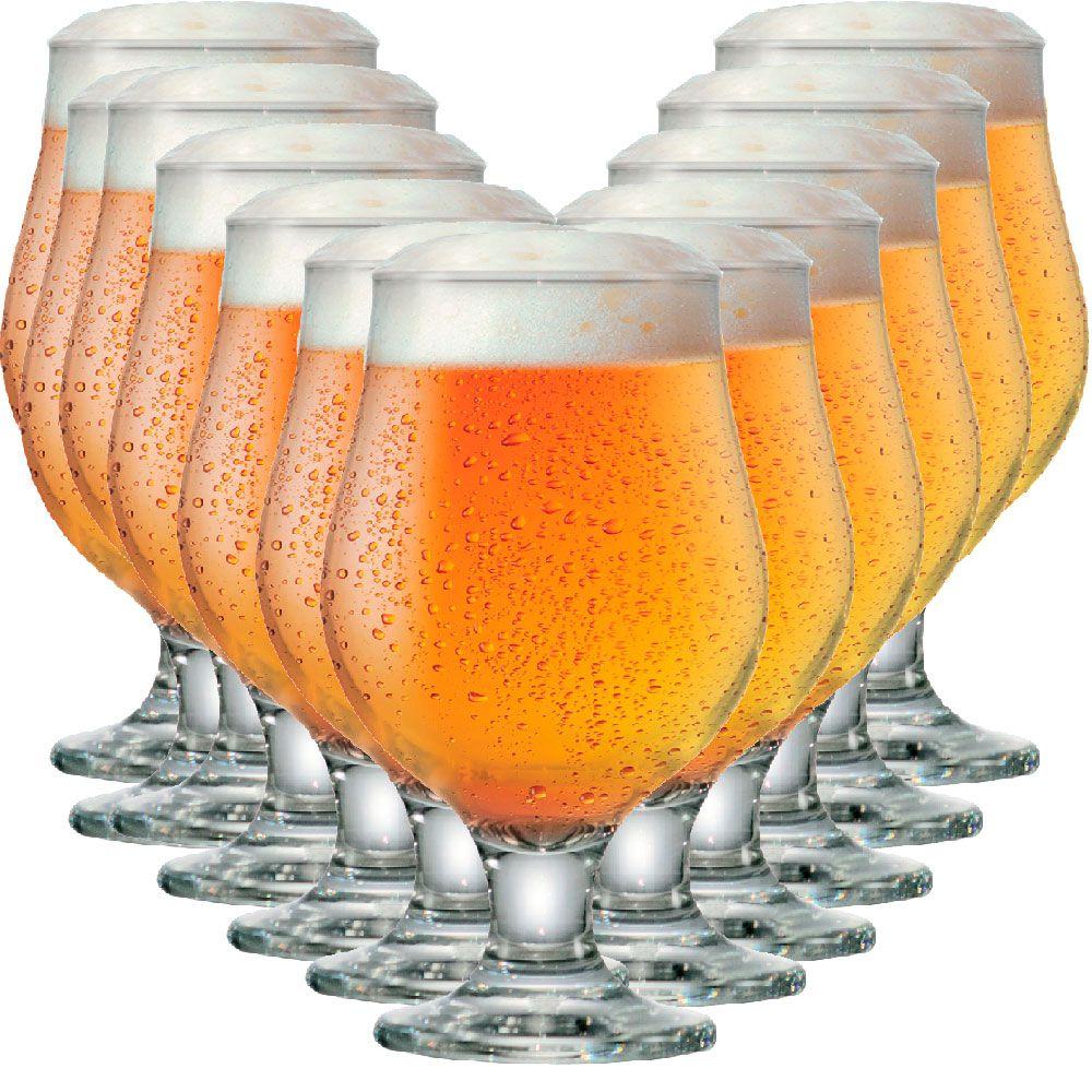 Jogo de Taças Cerveja Beer Master Vidro 380ml 12 Pcs