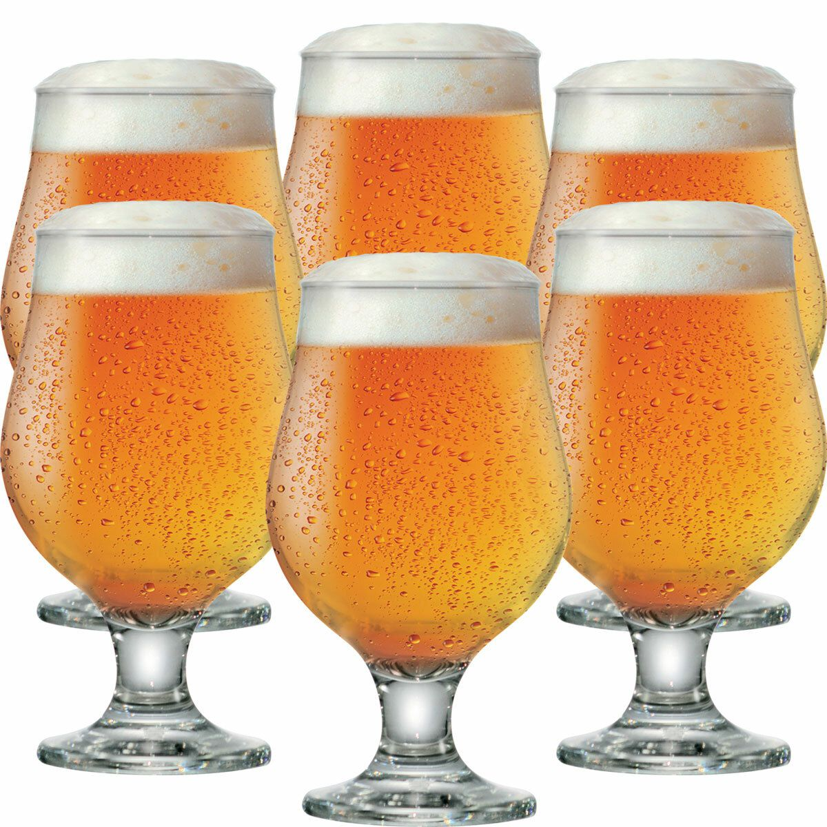 Jogo de Taças Cerveja Beer Master Vidro 380ml 6 Pcs