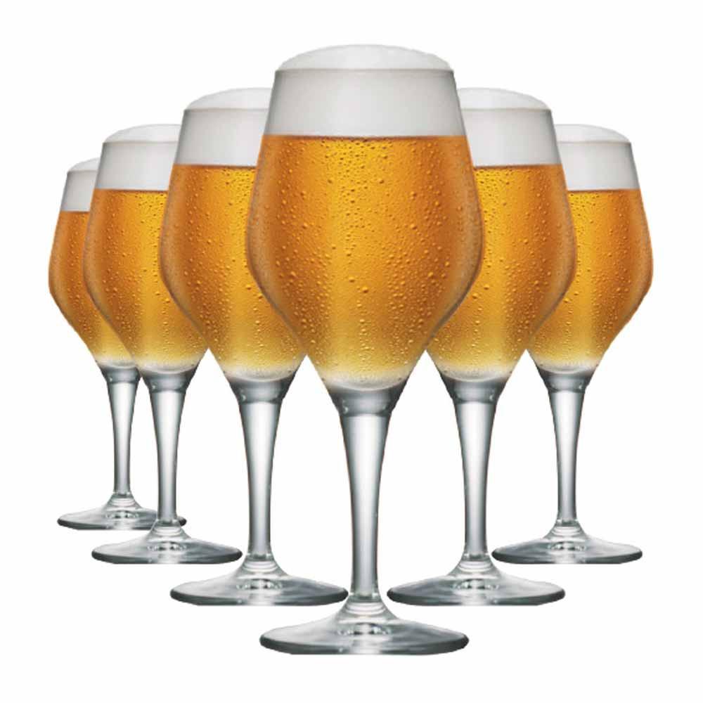 Jogo de Taças Cerveja Beer Sommelier Cristal 615ml 6 Pcs