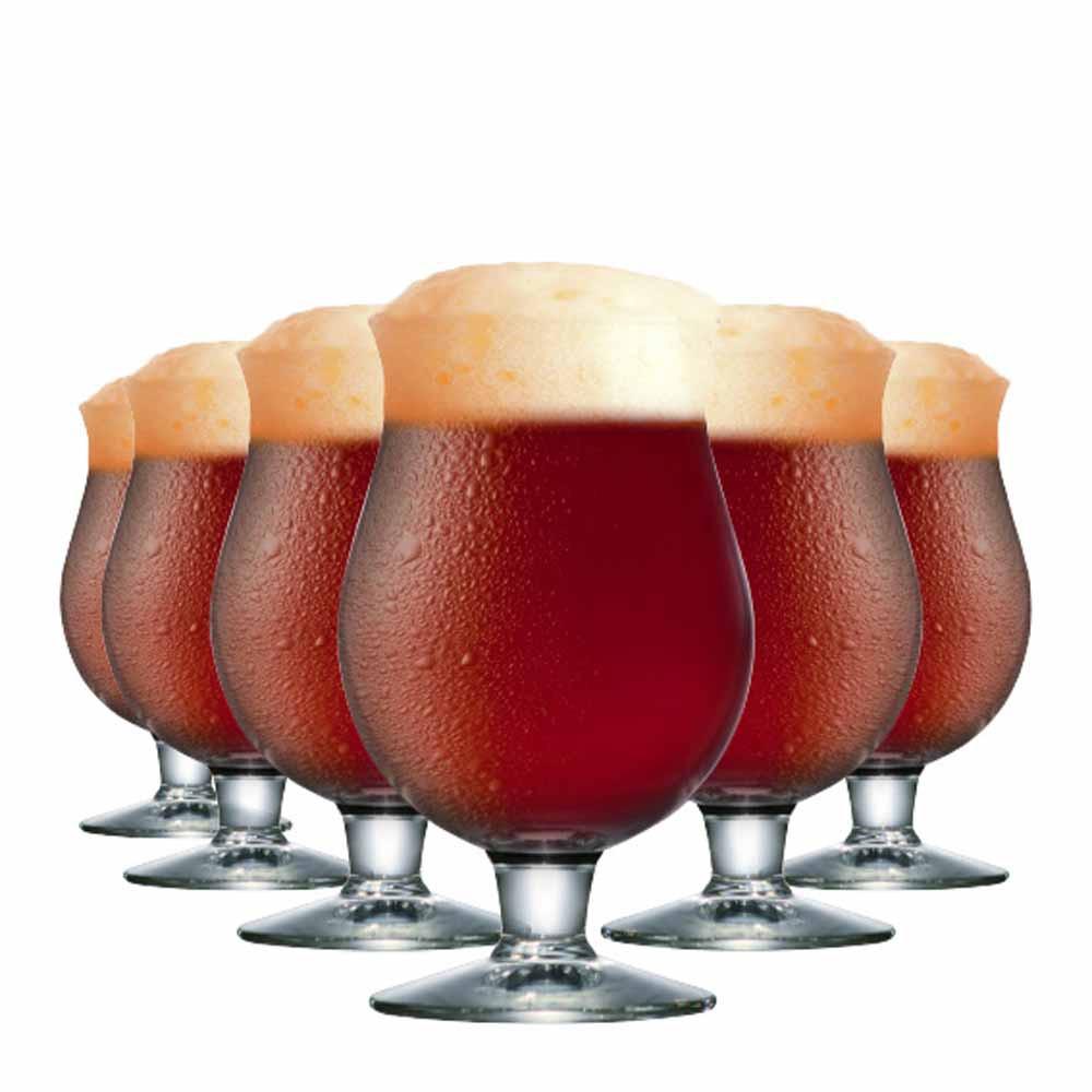 Jogo de Taças Cerveja Belgian Vidro 630ml 6 Pcs