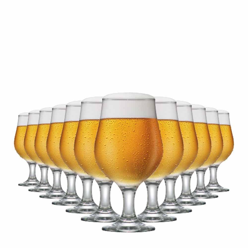 Jogo de Taças Cerveja Belgica Vidro 380ml 12 Pcs