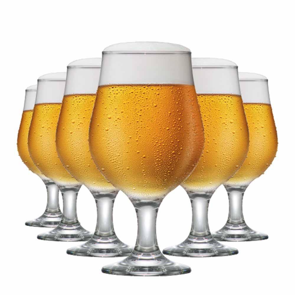Jogo de Taças Cerveja Belgica Vidro 380ml 6 Pcs
