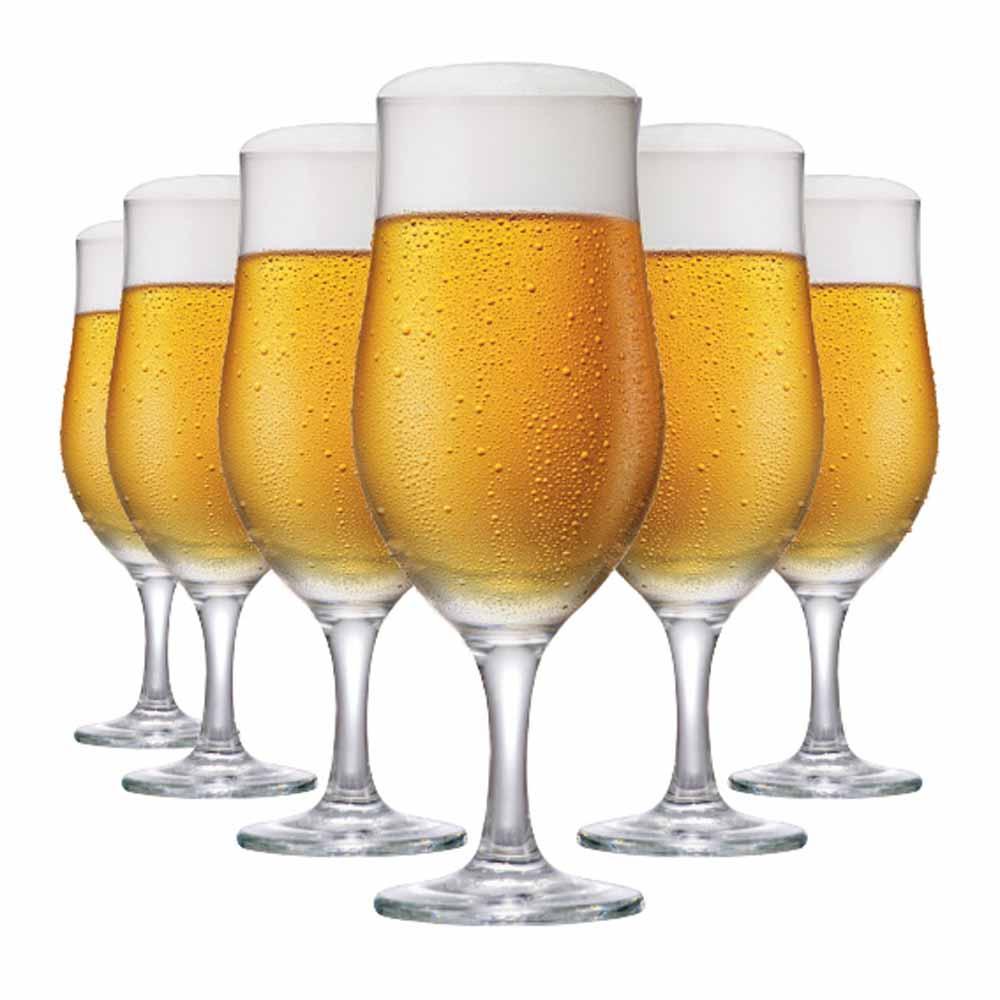 Jogo de Taças Cerveja Berlin Vidro 330ml 6 Pcs