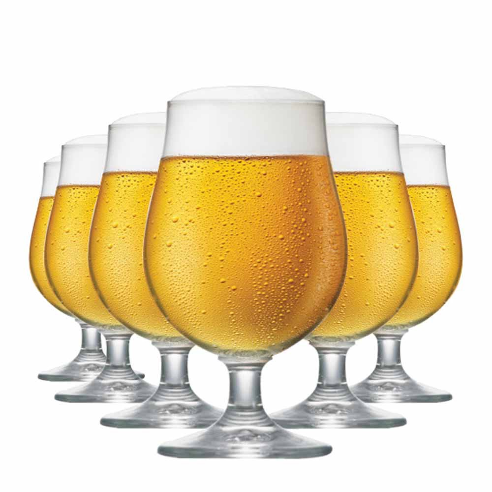 Jogo de Taças Cerveja Bock Cristal 380ml 6 Pcs