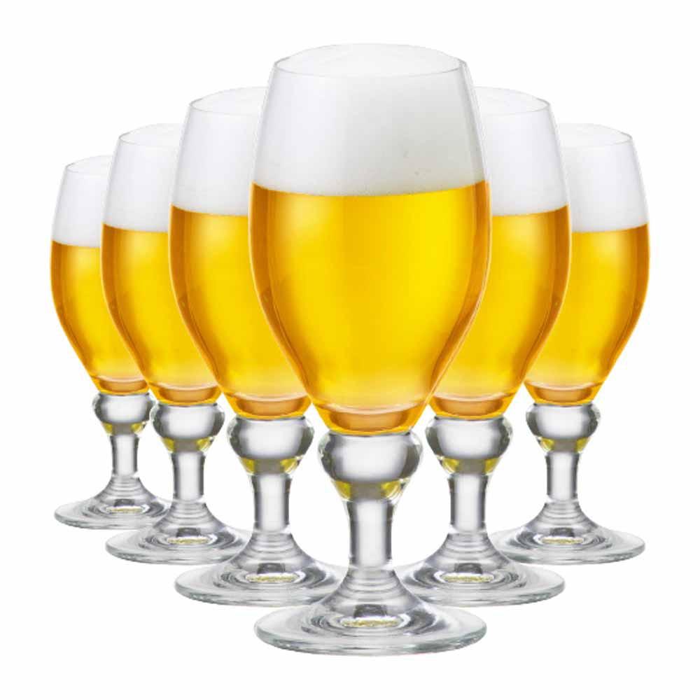 Jogo de Taças Cerveja Continental M Cristal 385ml 6 Pcs