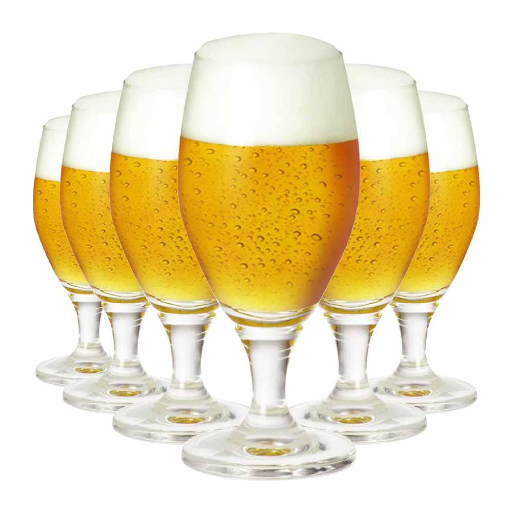 Jogo de Taças Cerveja Deister M Cristal 395ml 6 Pcs