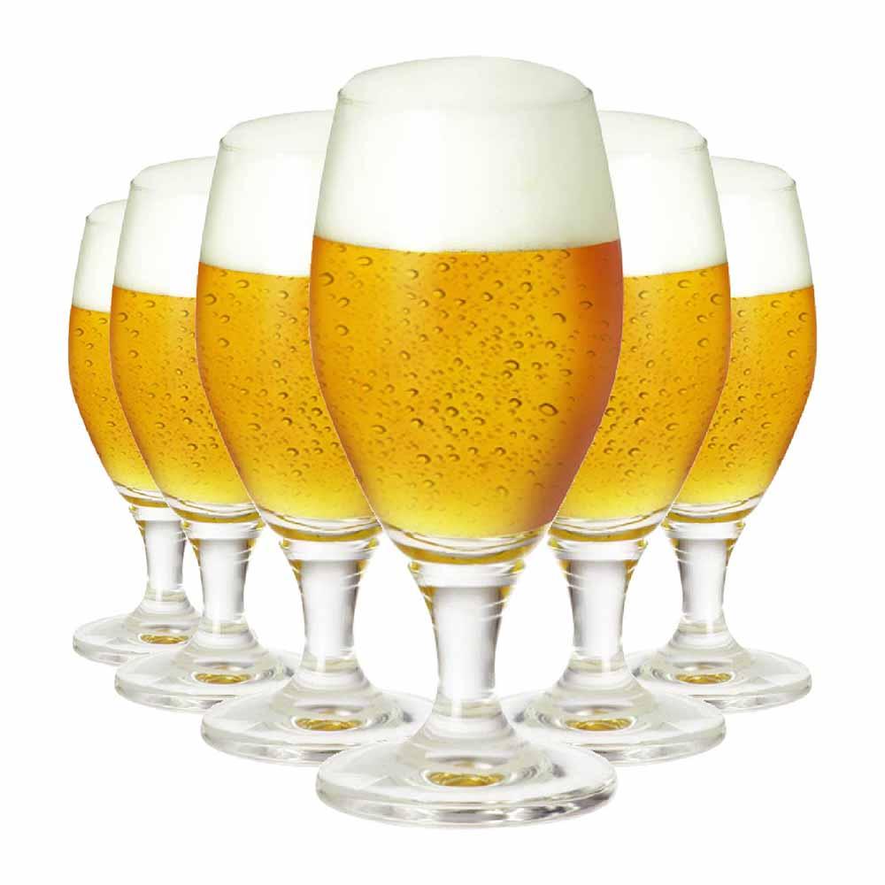 Jogo de Taças Cerveja Deister P Cristal 345ml 6 Pcs