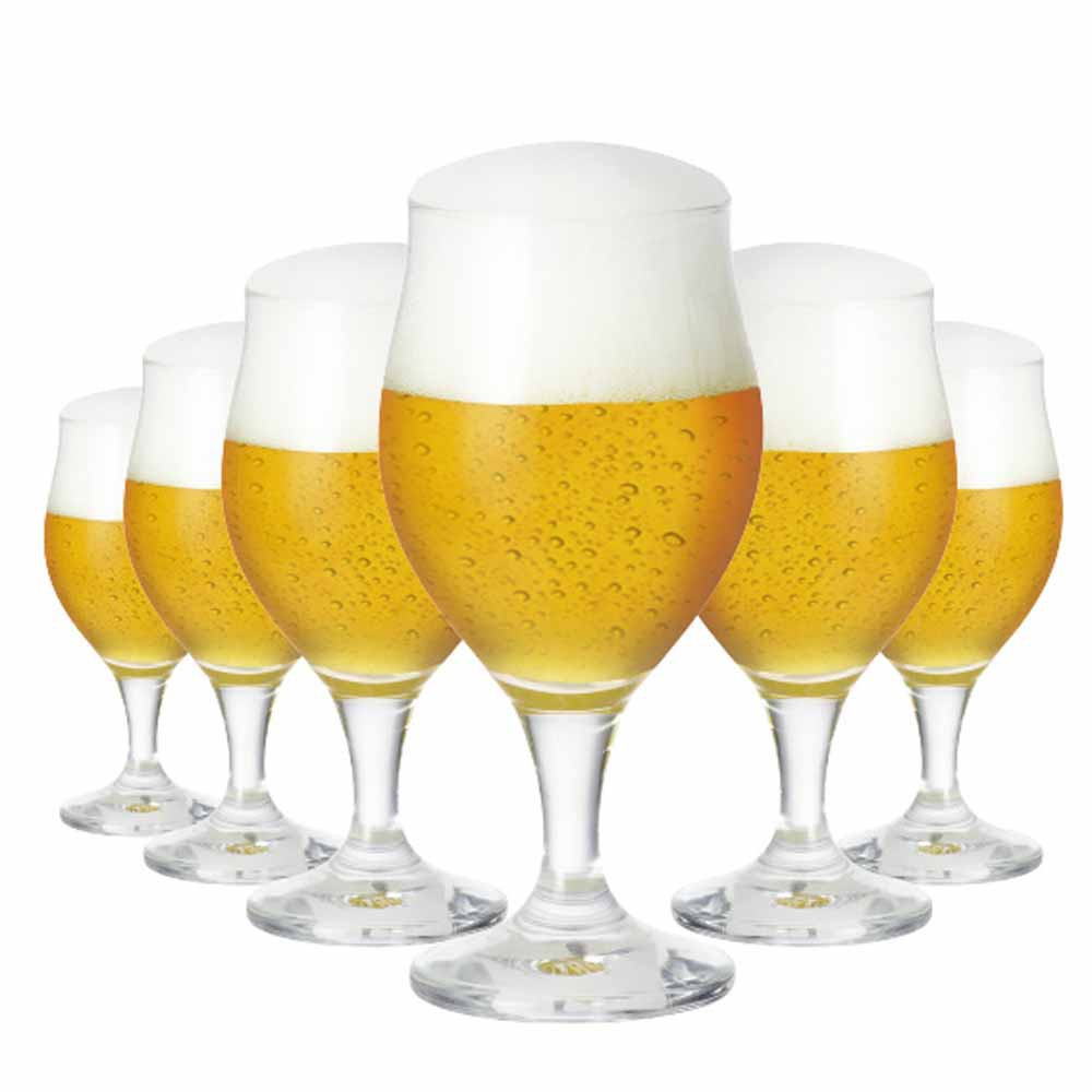 Jogo de Taças Cerveja Elsab Cristal 340ml 6 Pcs