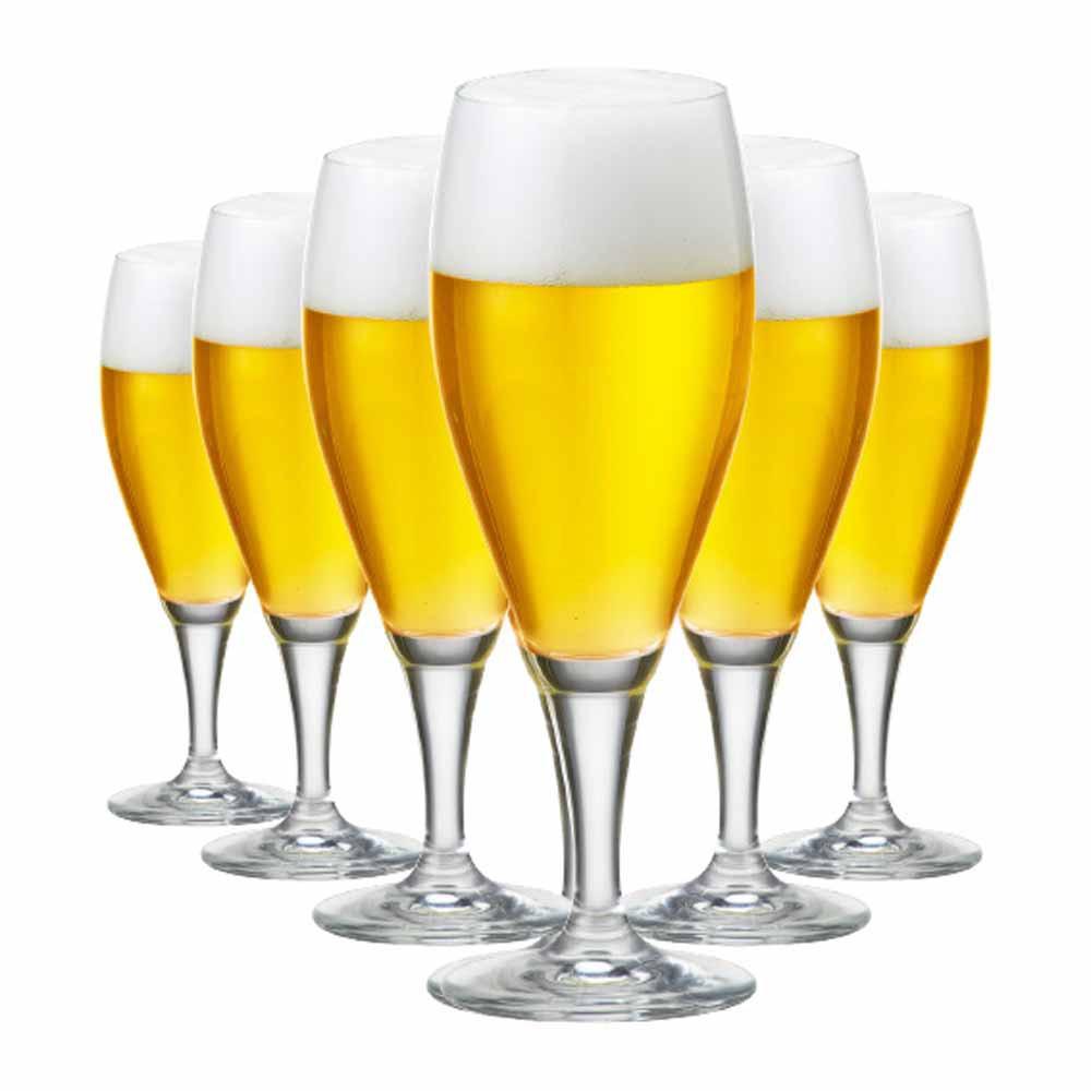 Jogo de Taças Cerveja Gourmet M Cristal 400ml 6 Pcs