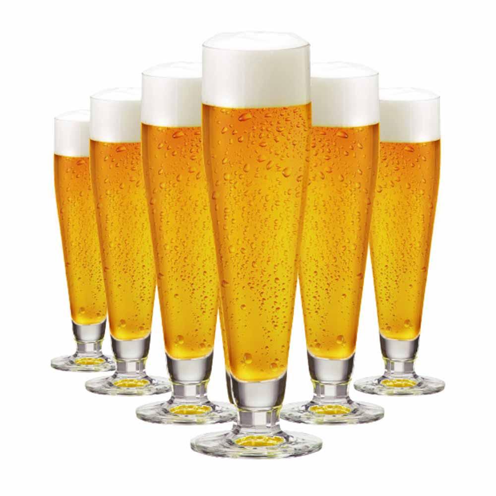 Jogo de Taças Cerveja Halle Cristal 385ml 6 Pcs