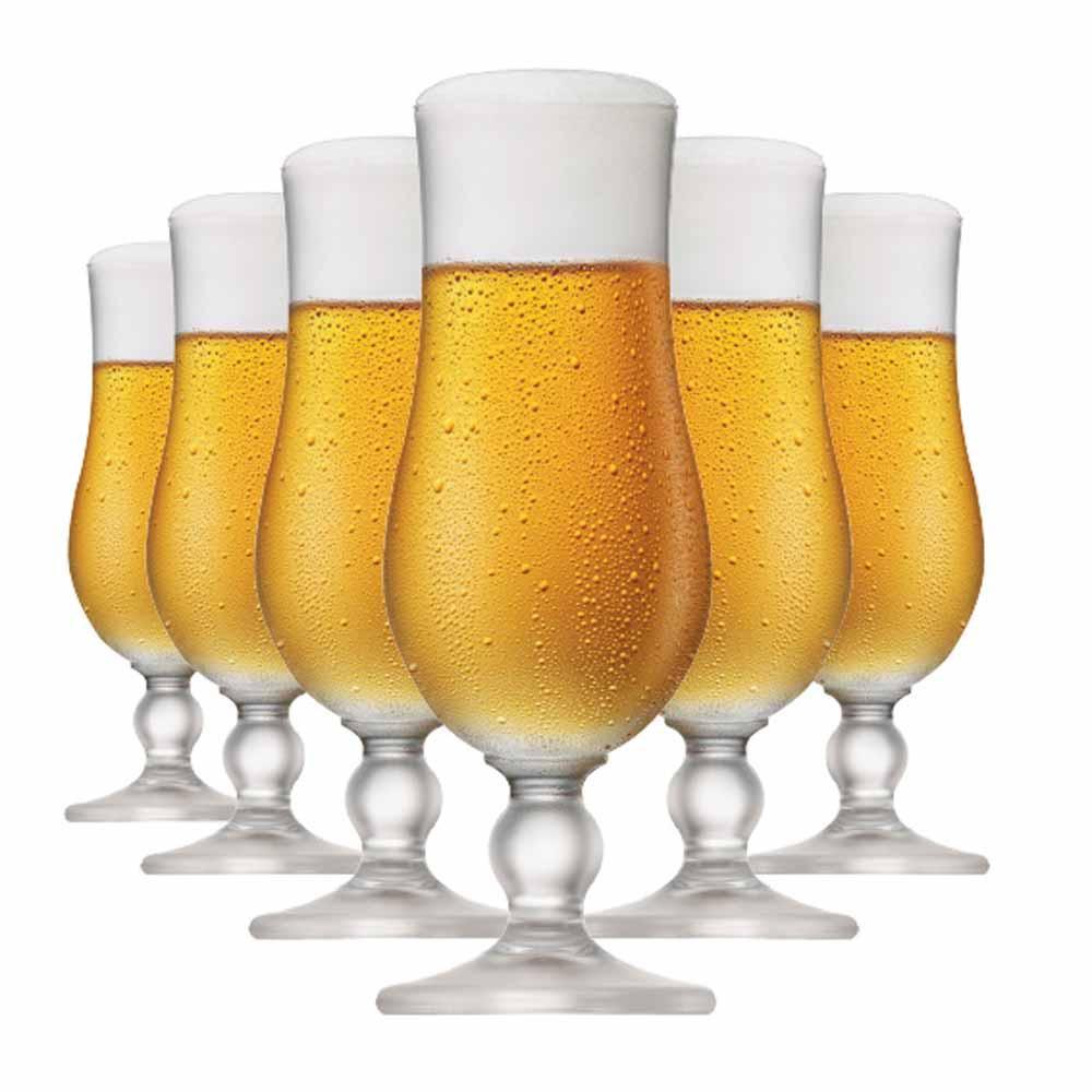 Jogo de Taças Cerveja Kassel Cristal 400ml 6 Pcs