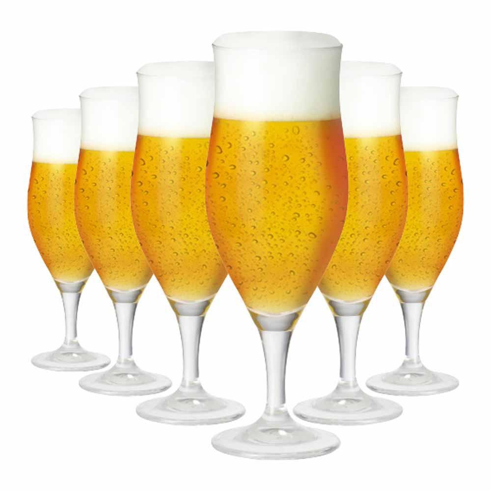 Jogo de Taças Cerveja Lubzer G Cristal 390ml 6 Pcs