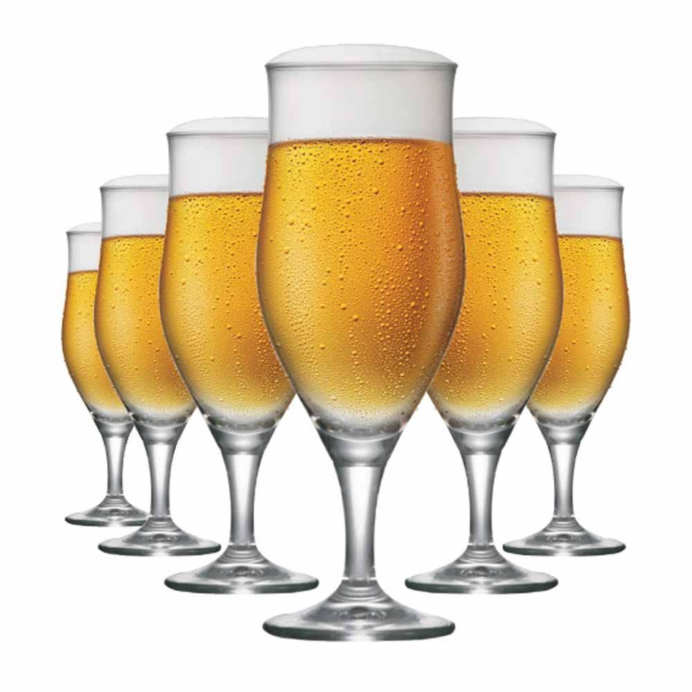 Jogo de Taças Cerveja Lubzer P Cristal 260ml 6 Pcs