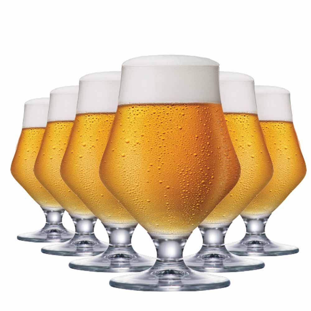 Jogo de Taças Cerveja Maritim Cristal 410ml 6 Pcs