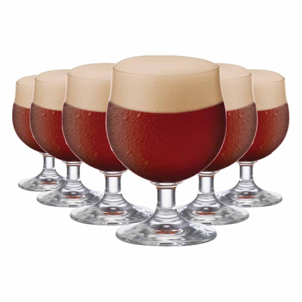 Jogo de Taças Cerveja Minibock Cristal 230ml 6 Pcs