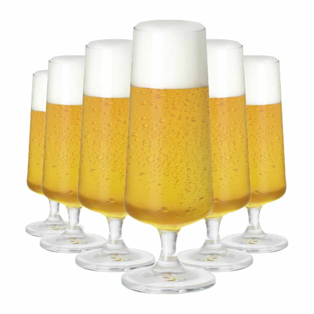 Jogo de Taças Cerveja Minileed Cristal 185ml 6 Pcs