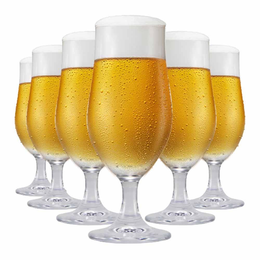 Jogo de Taças Cerveja Nevada M Cristal 370ml 6 Pcs