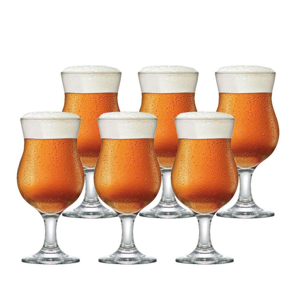 Jogo de Taças Cerveja Panama Vidro 400ml 6 Pcs