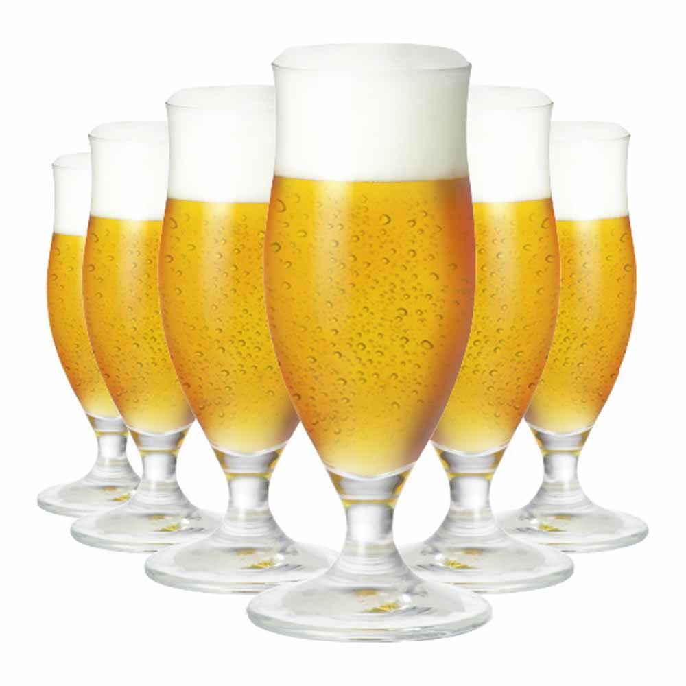 Jogo de Taças Cerveja Paris P Cristal 320ml 6 Pcs